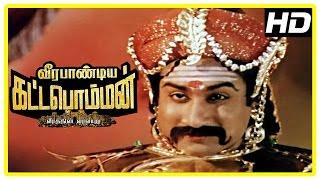 Veerapandiya Kattabomman Movie Scenes   Varalakshmi wishes Sivaji luck for the war   Gemini Ganesan