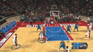 NBA 2K12 - Oklahoma City Thunder Thunder Vs Detroit Pistons Online Ranked Match Full Gameplay HD HQ