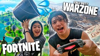 1 LOSS = 1 LIGO Siblings COD Warzone Vs Fortnite (Laughtrip!) | Ranz and Niana