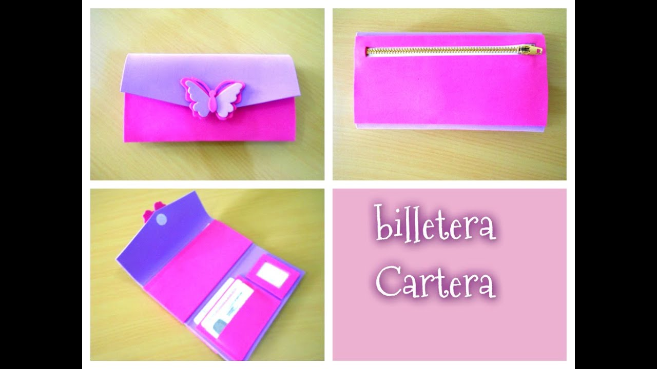 Diy como hacer una billetera cartera paso a paso youtube - Manualidades con papel de colores ...