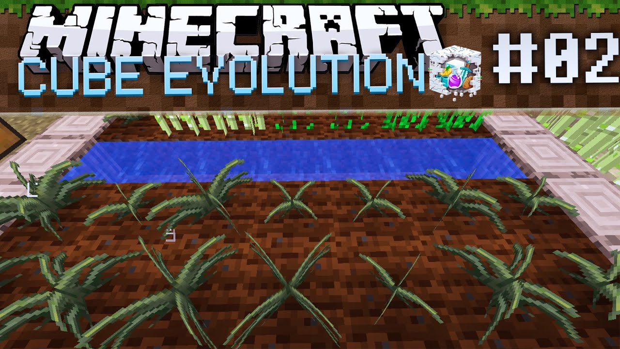 Minecraft Cube Evolution: Starting Magical Crops! - Ep 2