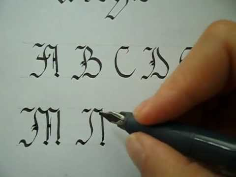 Gothic calligraphy capitals tutorial youtube Calligraphy youtube