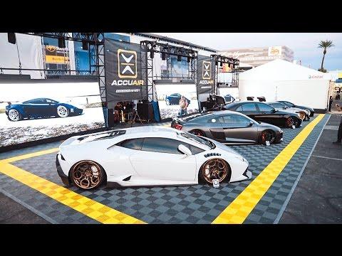 STANCED SUPER CARS SWARM SEMA IN 4K!! (SEMA 2016 Vlog #1)