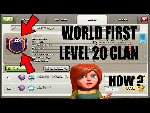 (HINDI) OMG !! WORLD FIRST LEVEL 20 CLAN IN THE CLASH OF CLANS HISTORY