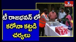 Governor Tamilisai Distributes Soap and Masks To GHMC Workers In TS Bhavan | hmtv