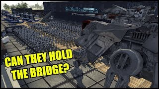 Can the CLONE ARMY Hold the BRIDGE? - Men of War: Star Wars Mod Battle Simulator