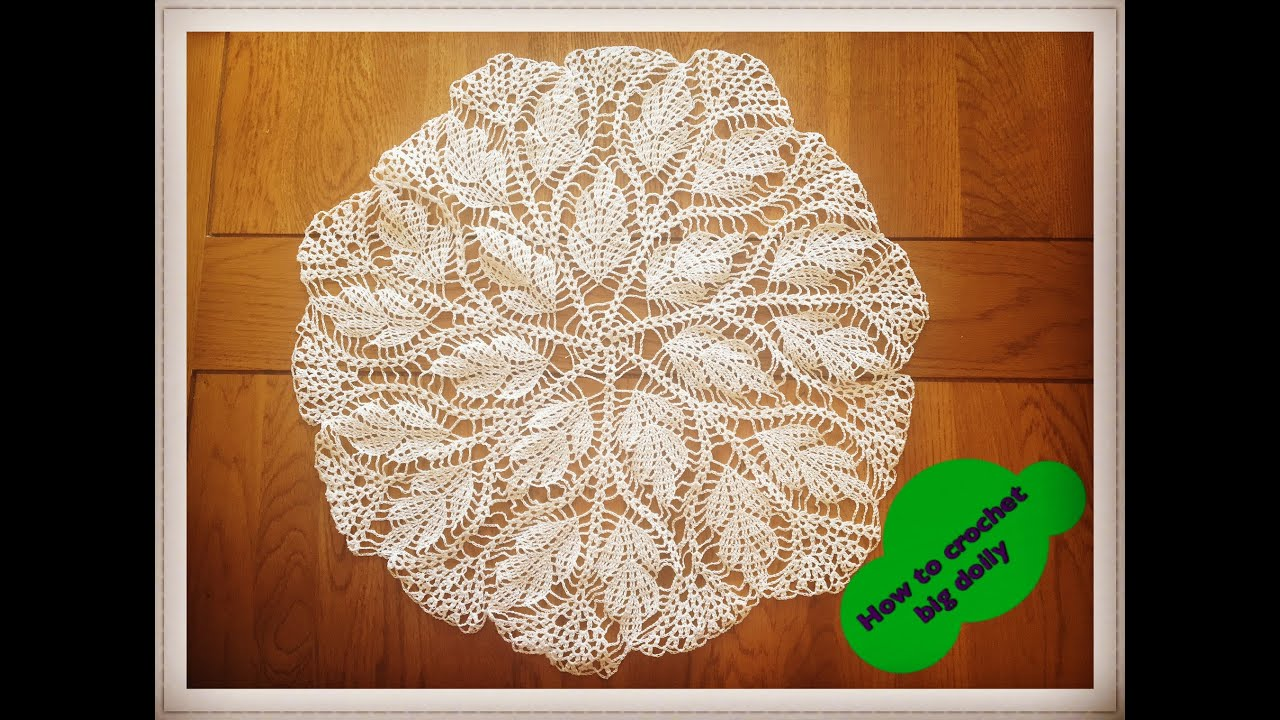 How to crochet big doily 17\