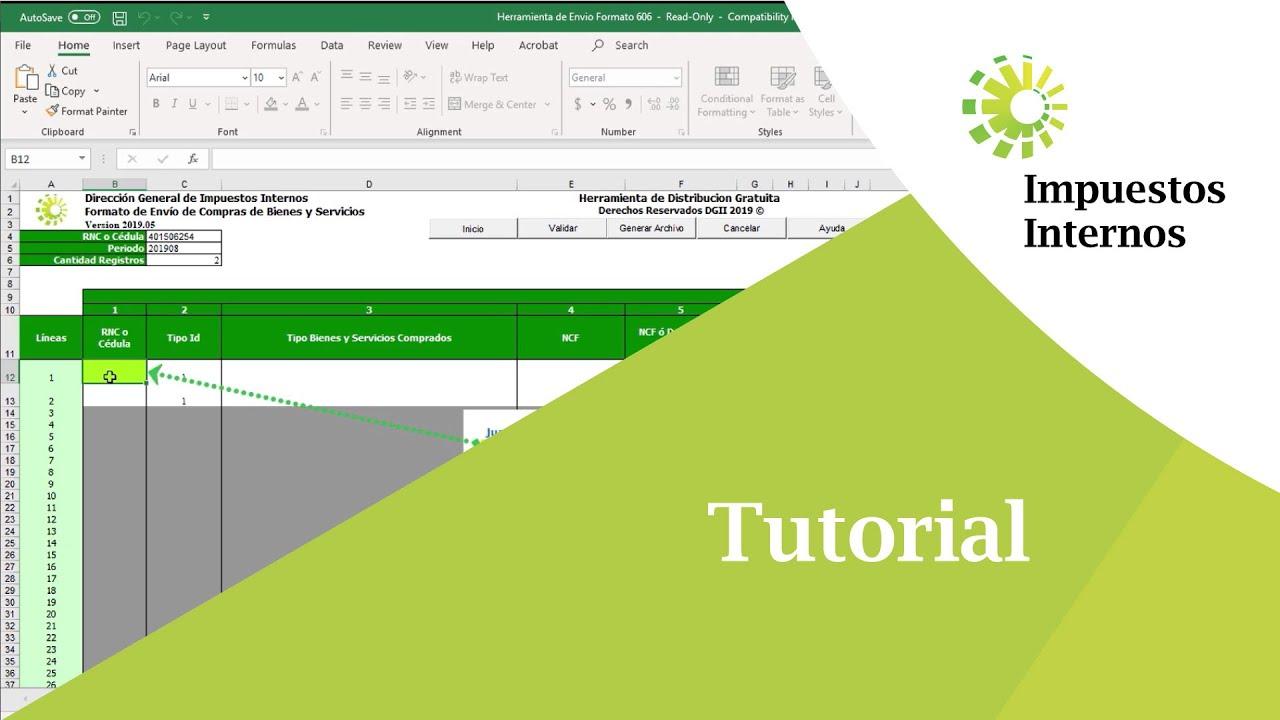 Cómo llevar las informaciones de la factura al Formato 606