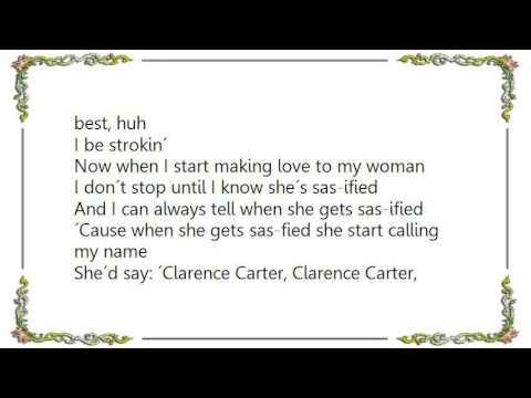 Clarence Carter - Strokin' Long  Dirty Lyrics