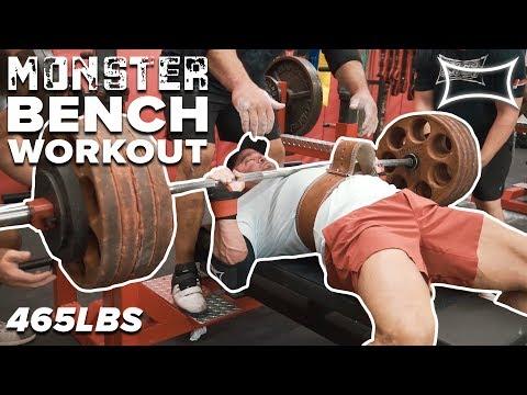 Monster Bench Workout Mark Bell Sets New Pr Youtube