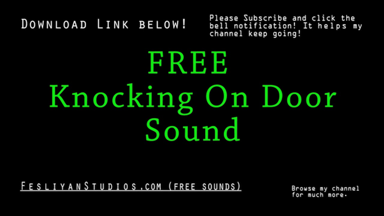 Free Knocking On Door Sound Effects Mp3 Download