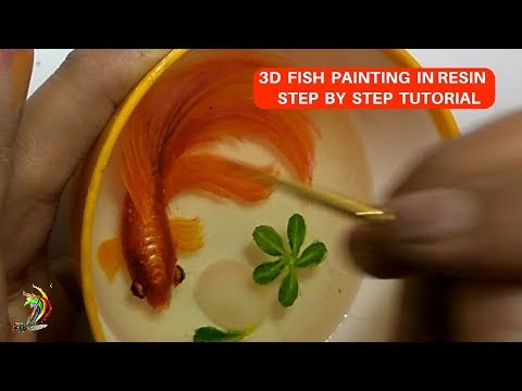 Step By Step Tutorial Video Of 3D Fish Painting In Resin | 3D Fish Painting