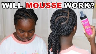 Using Mousse to Do Flat Twist on High Porosity Natural Hair | Mielle Organics | DiscoveringNatural