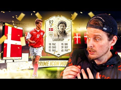 THE BEST CARD?! 92 PRIME ICON MOMENTS LAUDRUP PLAYER REVIEW! FIFA 20 Ultimate Team