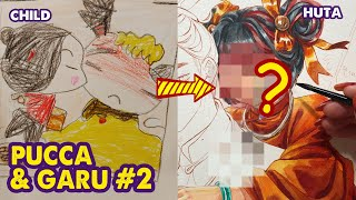 How To Draw Pu¢ca & Garu Couple Celebrating Mid-Autumn Festival | Huta Chan
