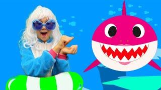 Baby Shark dance песенка на русском языке от Alex and Nastya Детские песенки