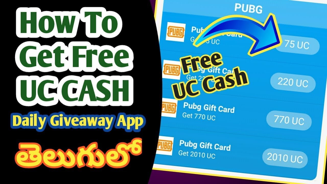 How to Get Free UC Cash In Pubg Mobile | Free Royale Pass Season 9 & Free Uc Cash App