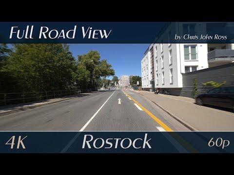rostock,-germany:-brinckmansdorf,-stadtmitte---mühlendamm,-ernst-berlach-straße---4k-(2160p/60p)