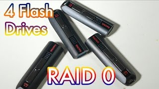 A Few flash drives in RAID 0