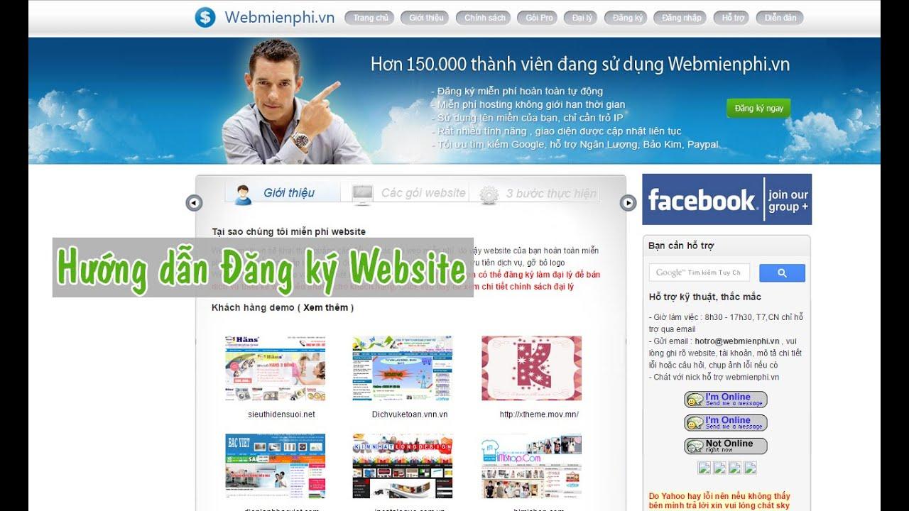 Web Miễn Phí. Vn – Hướng dẫn Đăng ký Website