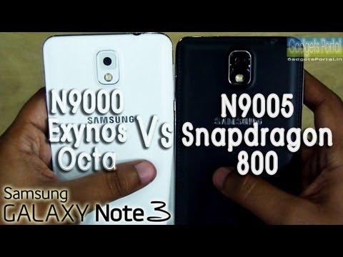 Samsung Galaxy NOTE 3 N9000 vs N9005 / Exynos octa vs Snapdragon 800