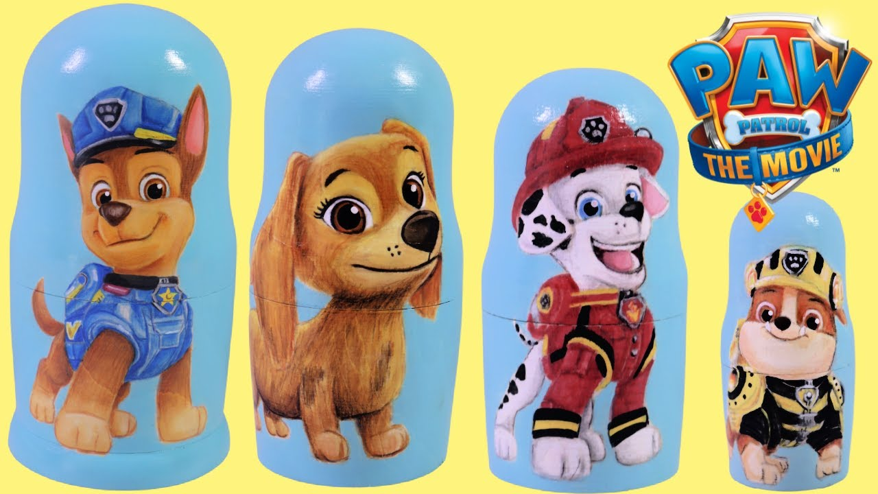 Download PAW Patrol MOVIE Nesting Dolls Fun with Numbers! Learn to Count with Chase, Liberty & Skye