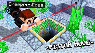 I found a HIDDEN Minecraft Base with a redstone secret DOOR..