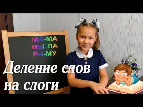 Русский язык. Деление на слоги.