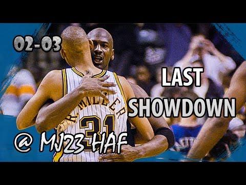 Michael Jordan vs Reggie Miller Highlights Wizards vs Pacers (2003.02.25)- 50pts TOT, Last Showdown!