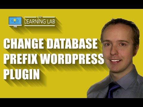 Change DB Prefix WordPress Plugin - Secure Your WordPress MySQL Database   WP Learning Lab