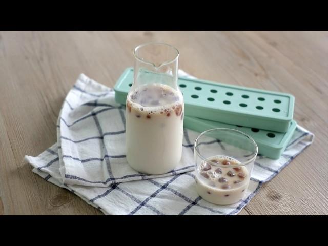 【冰磚咖啡DIY】越喝越濃郁的冰拿鐵咖啡
