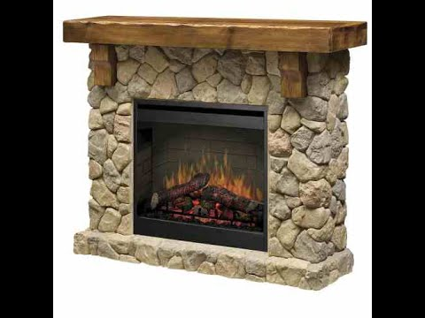 Dimplex Stone Electric Fireplace Mantel Review SMP 904 ST  Can Faux Stone Be Convincing  YouTube