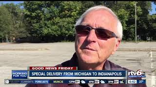 Michigan pizza restaurant makes special delivery to Indianapolis cancer patient