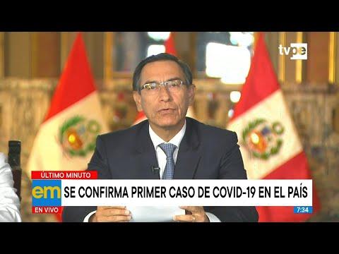 Presidente Martín Vizcarra confirma primer caso de coronavirus en el Perú