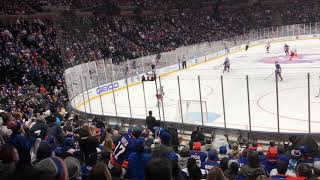 Islanders Return To Coliseum - End of Game