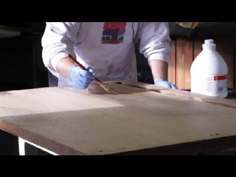 How To Bleach Furniture : Furniture Restoration U0026 General Care   YouTube