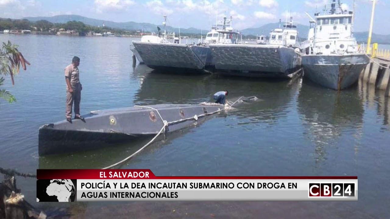 Incautan submarino con droga en aguas internacionales de El Salvador