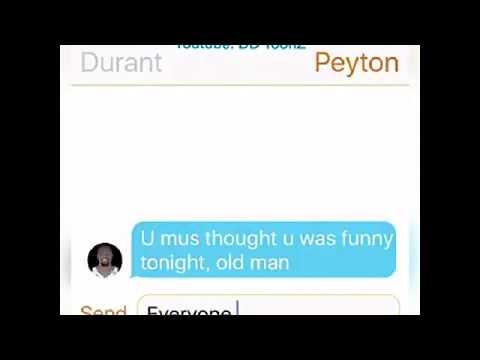 Peyton Manning Texting Kevin Durant ft. Westbrook