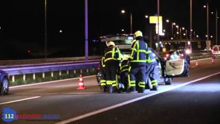 auto over de kop op a12 bij beek vijf gewonden het gevolg
