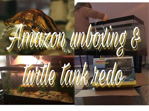Amazon Unboxing & Redoing My Turtle Tank!
