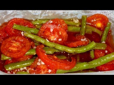 Рецепт Закуска из Зеленой Фасоли с Помидорами - Супер Вкусно