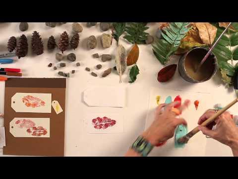 Kids Art Week - Lesson 3: Leaf Printing