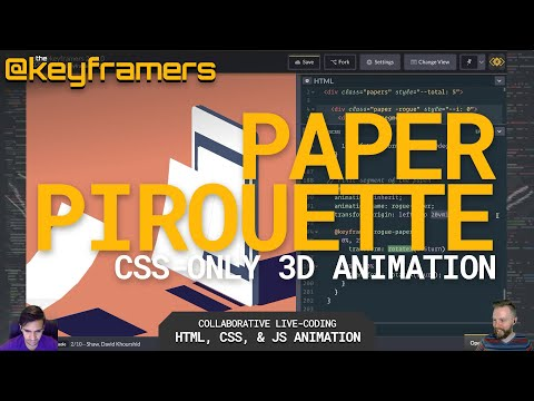 ➰📃 Paper Pirouette | 3D CSS-only flying page animation tutorial | @keyframers 2.18.0 thumbnail