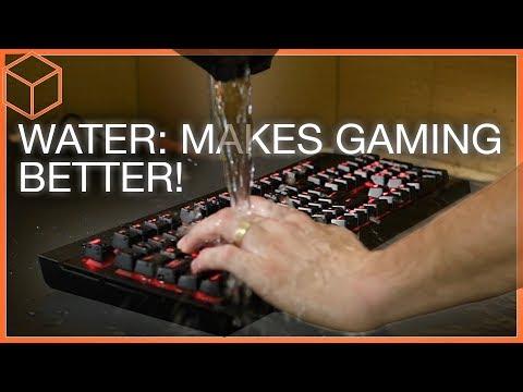 COMPLETELY Spill-proof! - Corsair K68 Mechanical Keyboard