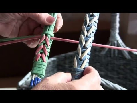 Weaving a strong handle together with Natalia Sorokina. Part 18.