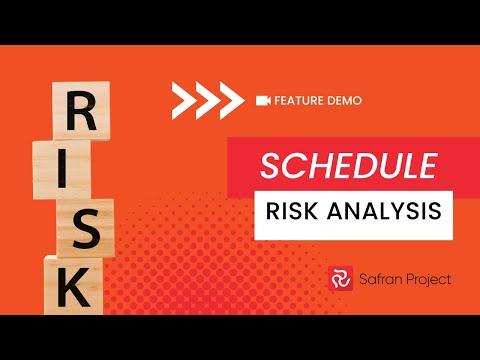 Demo - Safran Project   SRA  = Schedule Risk Analysis