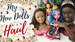 My New Dolls Haul / Big Monster High / Big Barbie Doll Heads / Create a Monster / Disney Princess