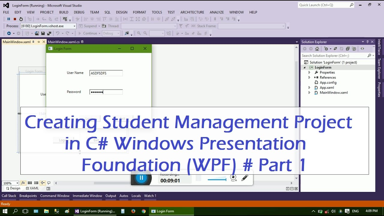 Student Management Project In Wpf 1 Forms Youtube