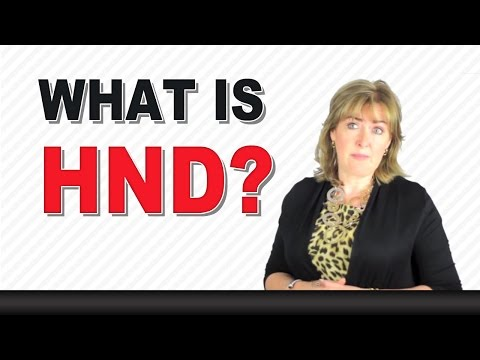 What is a HND?