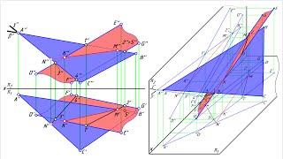 Пересечение плоскостей (общий случай)